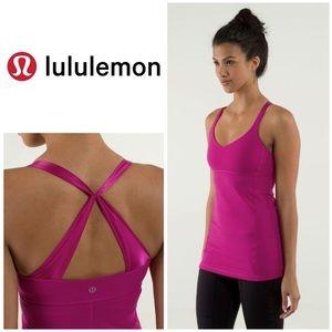 Lululemon Practice Daily Pink Tank Satin Strap 6